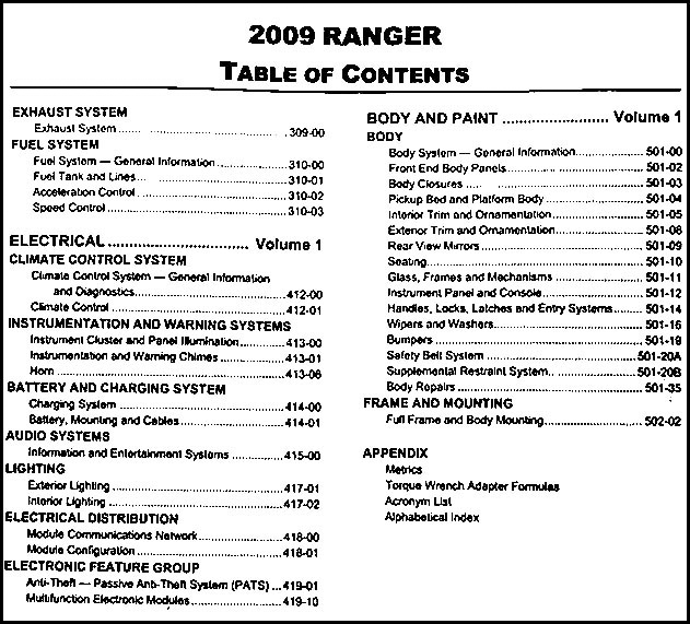 2009 ford ranger repair shop manual original 2 volume set rh faxonautoliterature com Ford Ranger Differential Repair 2008 ford ranger repair manual