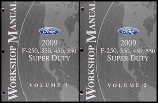 2009 ford f super duty f250 f350 f450 f550 repair shop manual set rh faxonautoliterature com 2006 ford f350 diesel manual 2008 ford f250 diesel owners manual