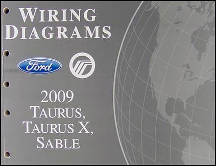 2009 Ford Taurus Taurus X Sable Wiring Diagrams Manual Original