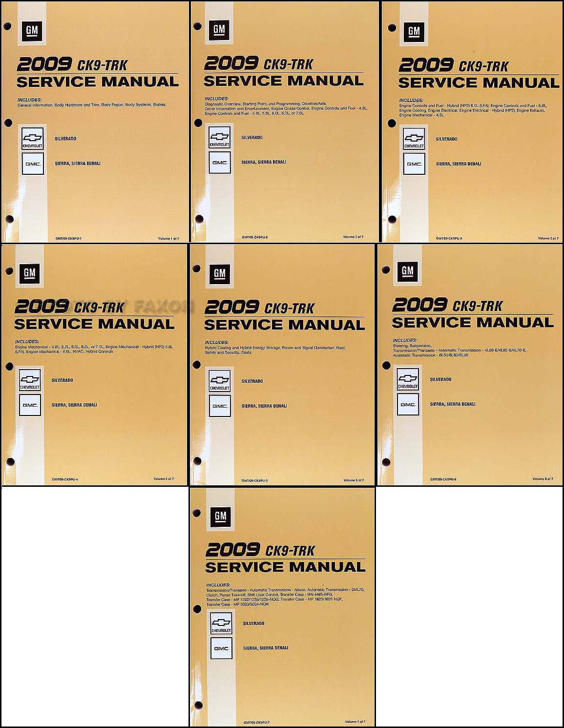 2009 silverado and sierra repair shop manual original 7 volume set rh faxonautoliterature com 2009 gmc sierra 2500 owners manual 2009 gmc sierra owners manual pdf