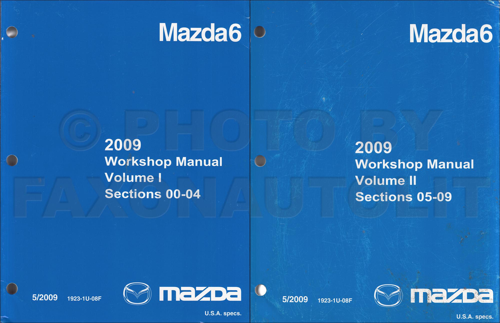 2009 mazda 6 repair shop manual original 2 vol set mazda 6 rh faxonautoliterature com 2005 Mazda 6 Repair Manual Mazda 6 Shop Manual