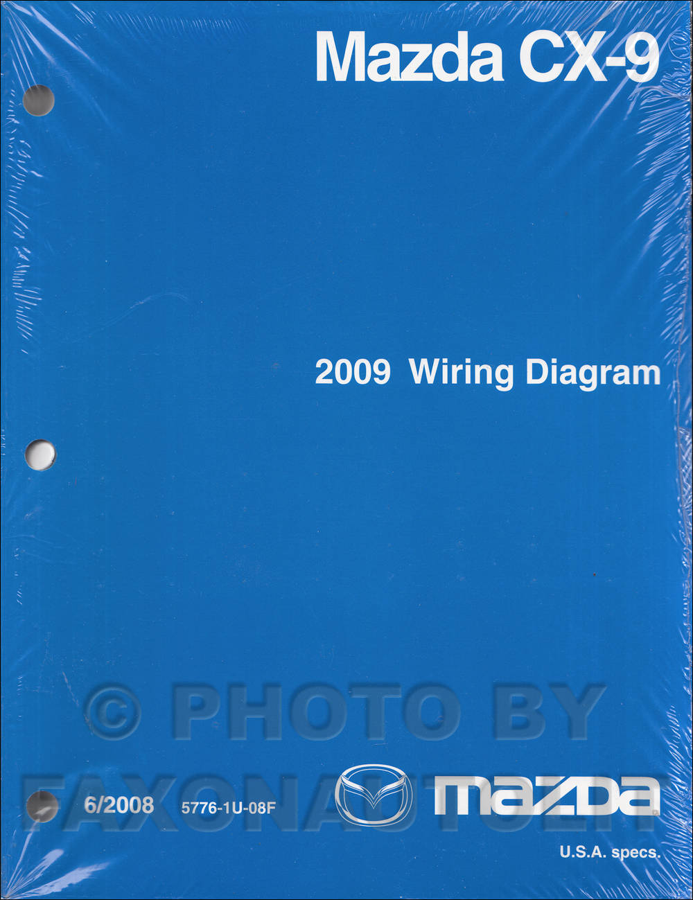 2009 mazda cx 9 wiring diagram manual original