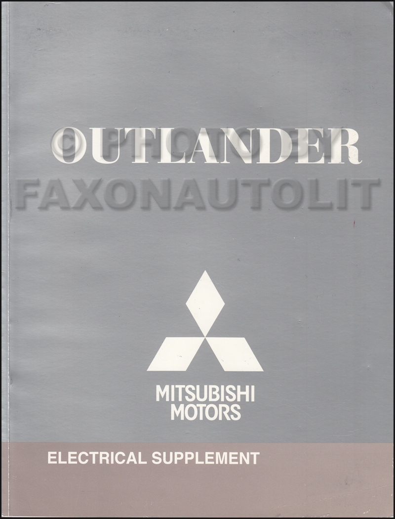2009 Mitsubishi Outlander Wiring Diagram Manual Original