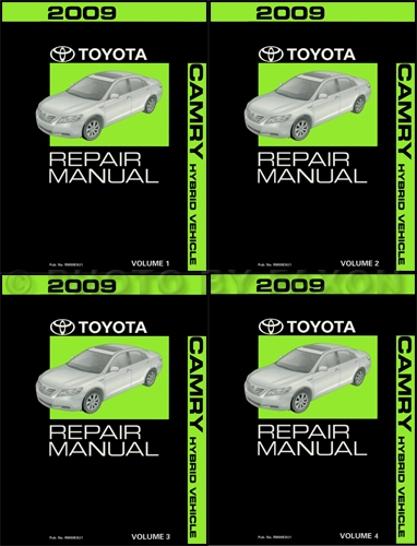 2009 toyota camry hybrid repair shop manual original 4 volume set rh faxonautoliterature com toyota camry hybrid owners manual pdf toyota camry hybrid owners manual