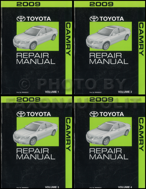 2009 toyota camry repair shop manual original 4 vol set rh faxonautoliterature com 2009 Toyota Camry Custom 2009 Toyota Camry Le