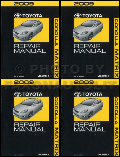 2009 Toyota Matrix Repair Manual 4 Volume Set Oem Shop