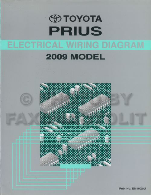 2009 Toyota Prius Wiring Diagram Manual Original