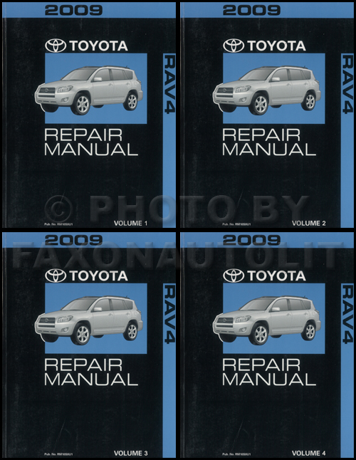 2009 Toyota Rav4 Repair Manual 4 Volume Set Rav Oem Shop Service Books Original