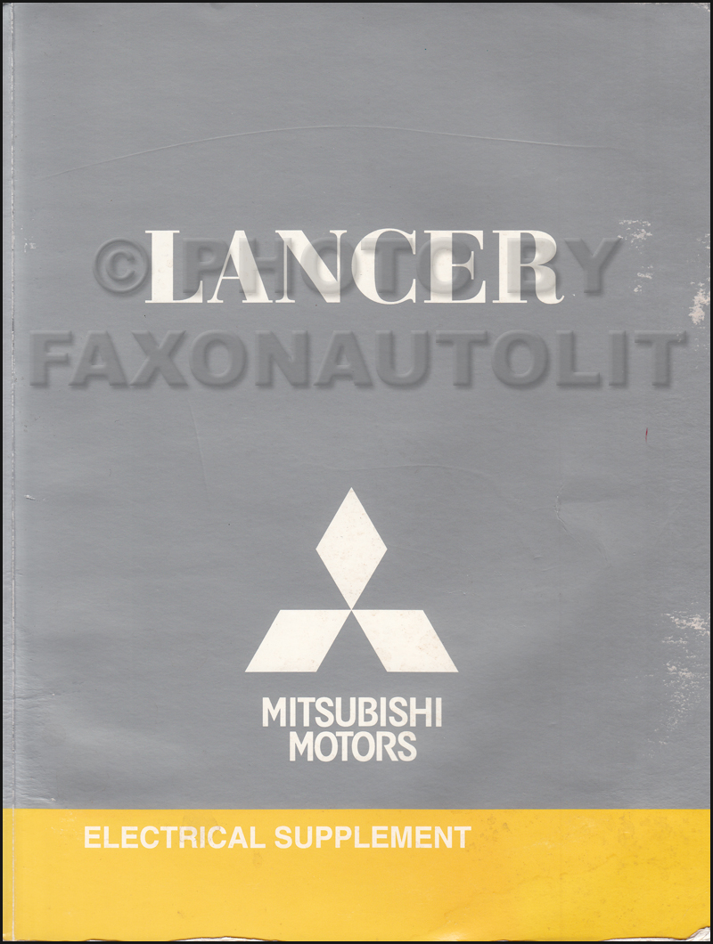 2009 5 Mitsubishi Lancer Wiring Diagram Manual Original