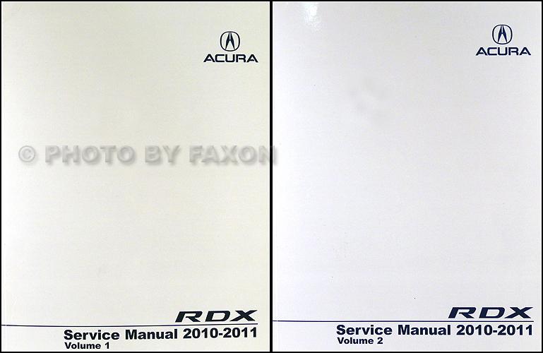 2010-2011 Acura RDX Service Manual 2 Volume Set