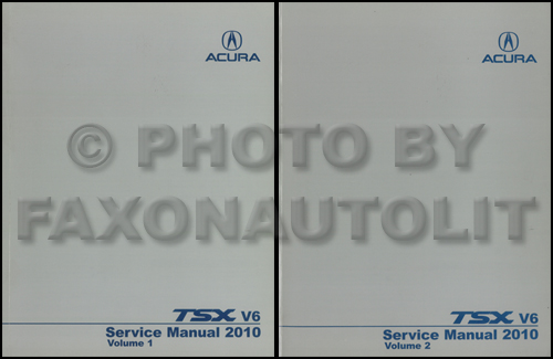2004-2008 Acura TSX Shop Manual Original