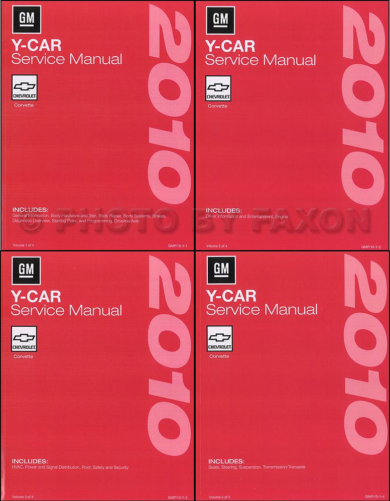 2010 Chevrolet Corvette Repair Shop Manual Original 4 Volume Set