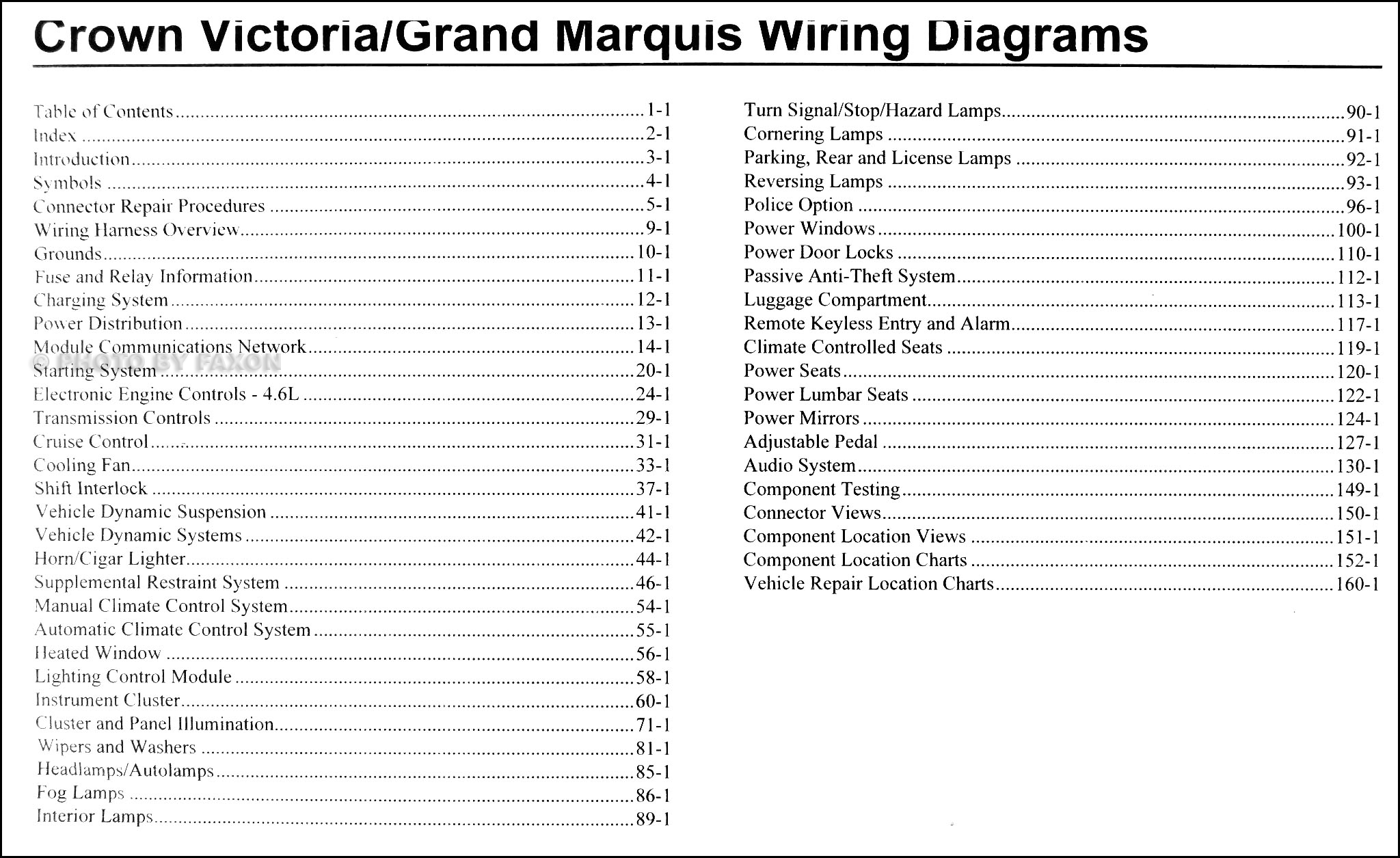2010 crown victoria wiring diagram 2010 crown victoria & grand marquis wiring diagram manual ...