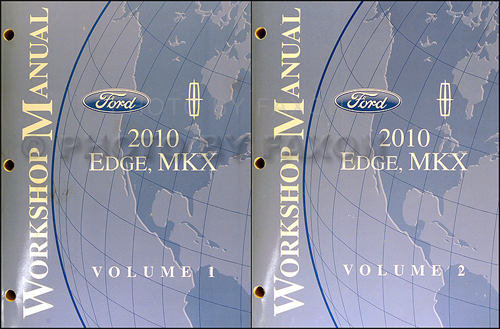 2010 Ford Edge Lincoln Mkx Repair Shop Manual Original 2