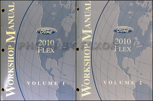 2010 Ford Flex Repair Shop Manual Original 2 Volume Set