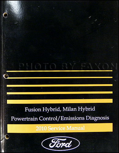 2010 Ford Fusion Hybrid  Mercury Milan Hybrid Wiring Diagram Manual Original