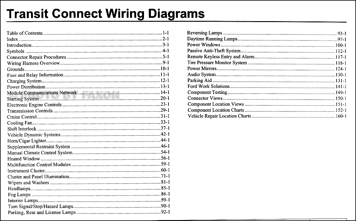 2010 ford transit connect wiring diagram manual original rh faxonautoliterature com 2010 ford transit connect wiring diagram ford transit connect wiring diagram pdf