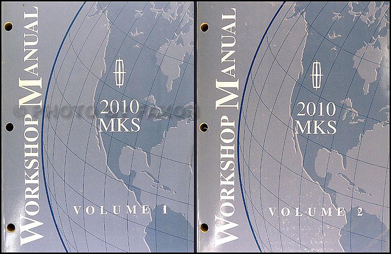 2010 Lincoln Mks Repair Shop Manual Original Set