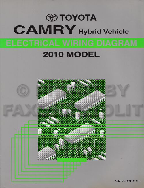 2010 toyota camry hybrid wiring diagram manual original