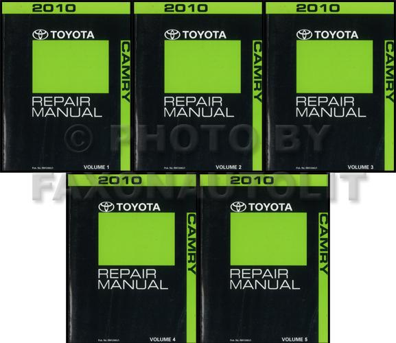 2010 toyota camry hybrid repair shop manual original 4 volume set. Black Bedroom Furniture Sets. Home Design Ideas