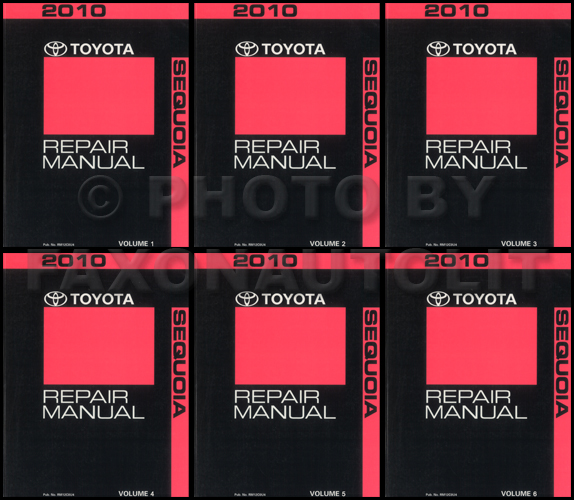 2010 Toyota Sequoia Repair Manual 6 Volume Set Original
