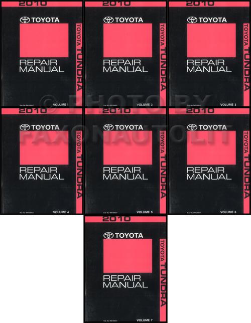 2010 toyota tundra repair shop manual 7 volume set original rh faxonautoliterature com toyota tundra 2010 repair manual 2010 toyota tundra shop manual