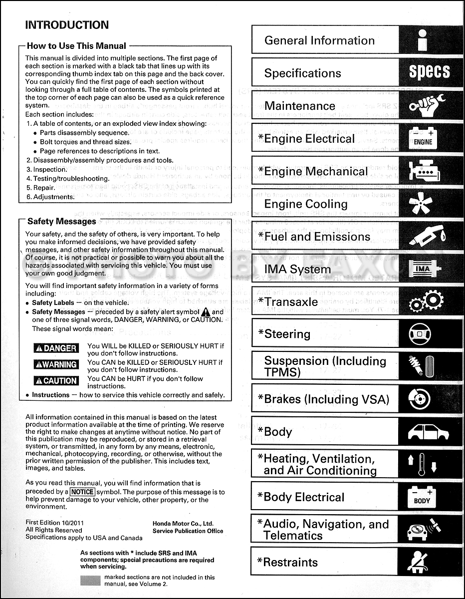 2011 2012 honda cr z repair shop manual original 2 volume set rh faxonautoliterature com 2011 honda cr-z service manual 2011 honda cr z owners manual