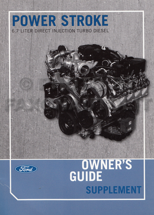 2011 ford 6 7l powerstroke diesel engine owner s manual original rh faxonautoliterature com owners manual ford f250 diesel 2006 owners manual for 2005 ford f250 diesel