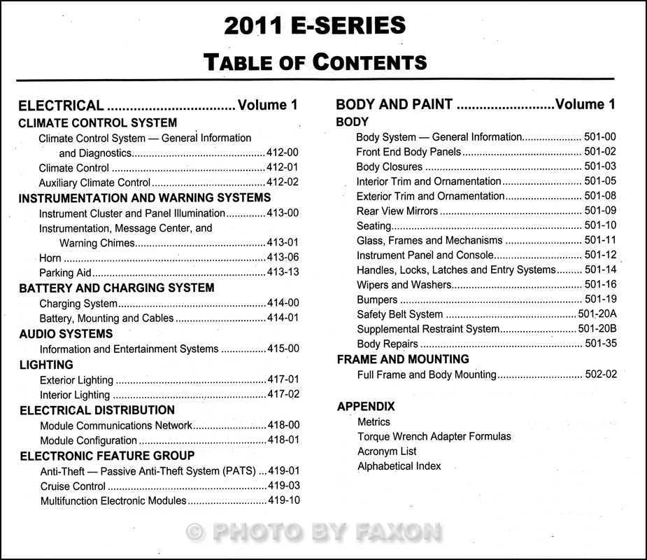ford econoline repair shop manual original set
