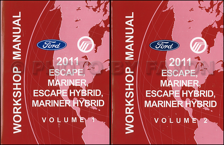 2011 ford escape mercury mariner wiring diagram manual original 2011 ford escape and mercury mariner repair shop manual original 2 volume set 169 00