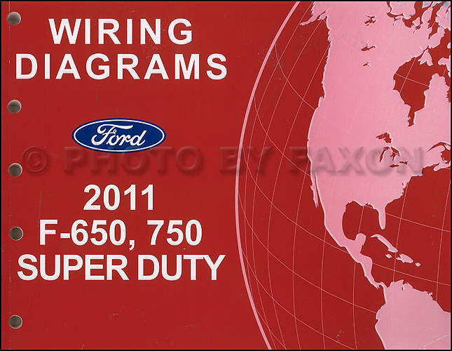 2011 ford f 650 and f 750 super duty truck wiring diagram manual rh faxonautoliterature com