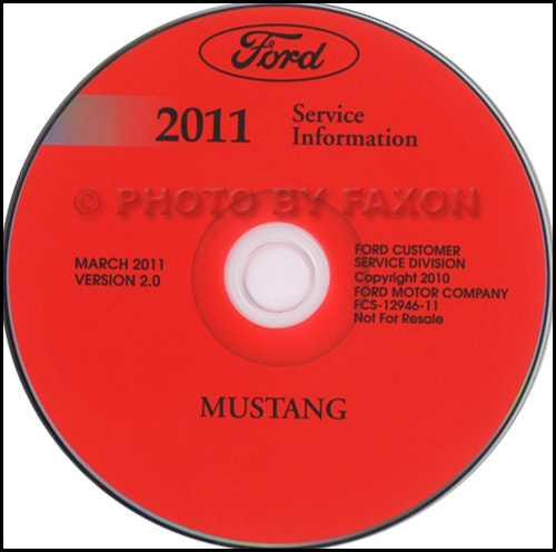 2011 ford mustang repair shop manual on cd rom original rh faxonautoliterature com 2011 mustang shop manual pdf 2011 mustang gt shop manual