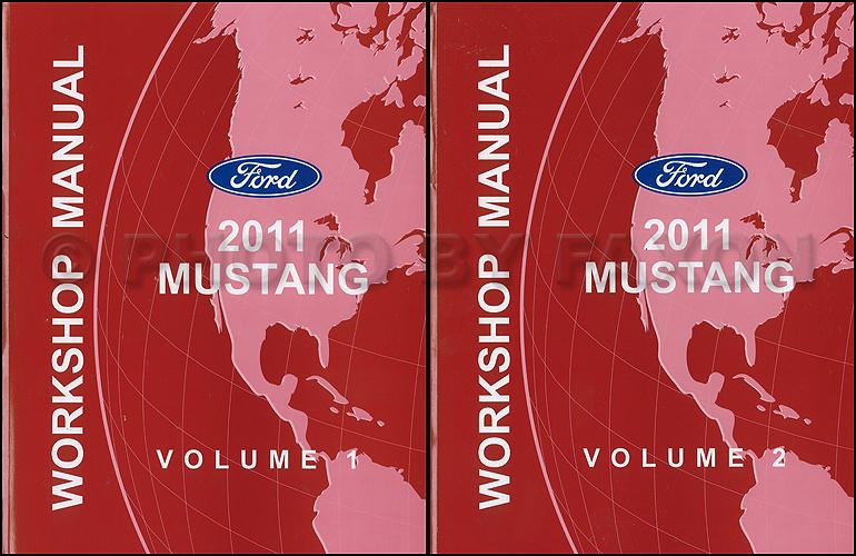 2011 Ford Mustang Repair Shop Manual Original 2 Volume Set