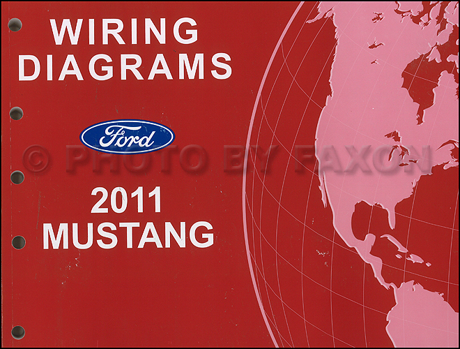 2011 Ford Mustang Wiring Diagram Manual Original