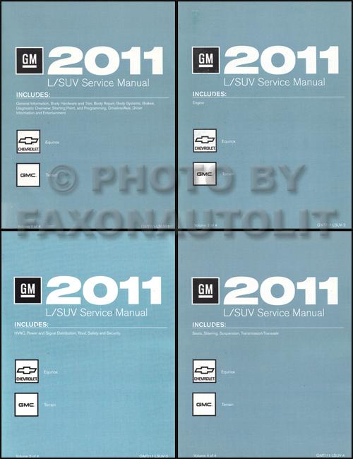 2011 chevrolet equinox gmc terrain repair shop manual original set of 4 rh faxonautoliterature com 2014 equinox service manual 2015 equinox service manual