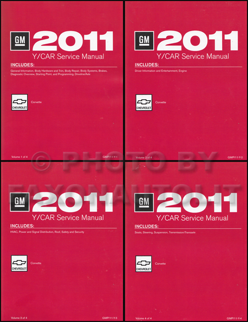 2011 Chevrolet Corvette Repair Shop Manual Original 4 Volume Set