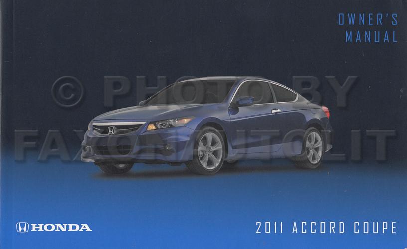 2011 Honda Accord Coupe Owner S Manual Original 2 Door