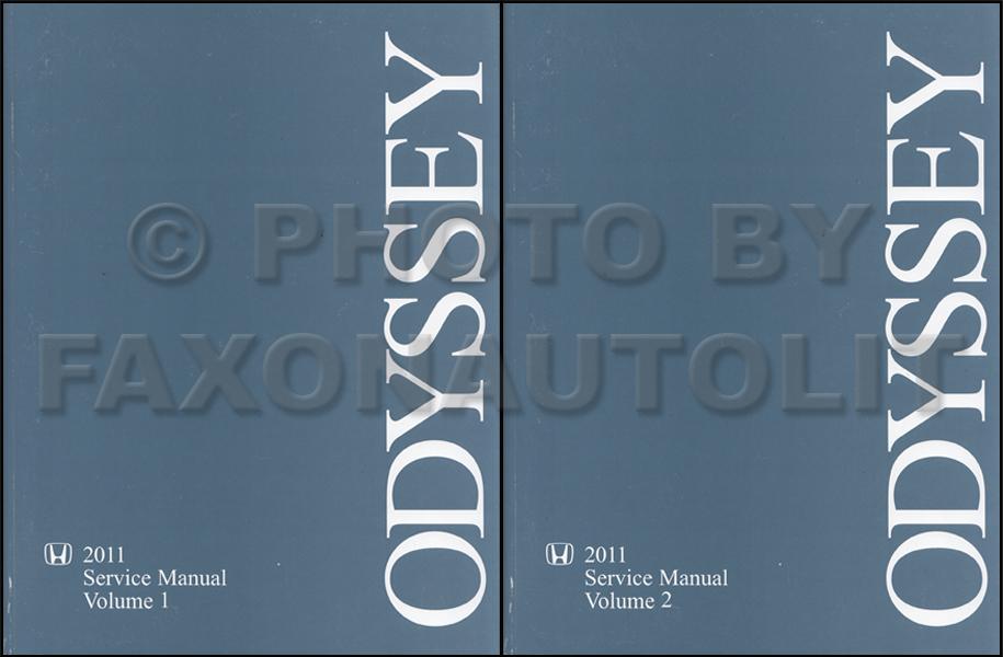 2011 Honda Odyssey Repair Shop Manual Original 2 Volume Set