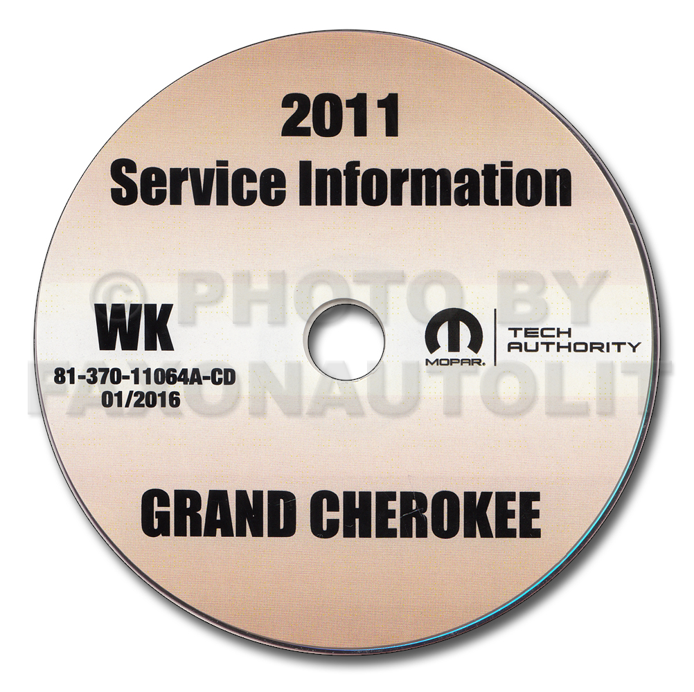 2011 Jeep Grand Cherokee Repair Shop Manual CD-ROM