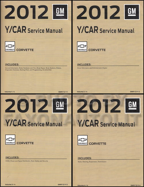 2012 chevrolet corvette repair shop manual original 4 volume set rh faxonautoliterature com 2012 corvette zr1 owners manual 2013 corvette service manual pdf