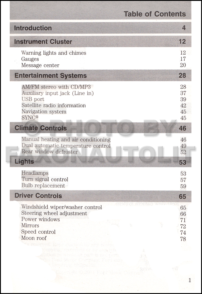ford escape gas owners manual original