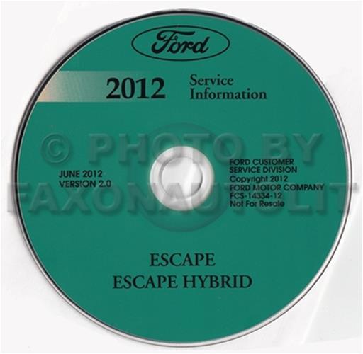 2012 Ford Escape Hybrid Wiring Diagram Manual Original