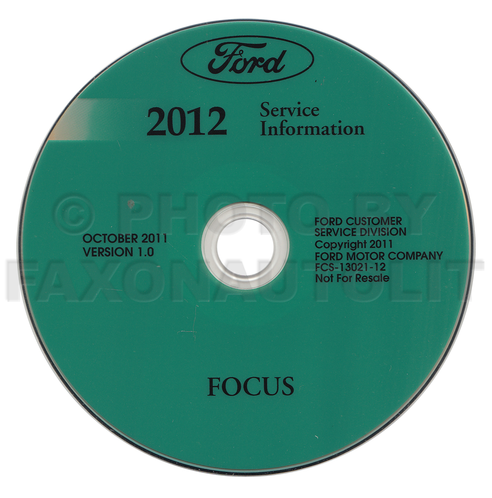 2012 Ford Focus Electric Wiring Diagram Manual Original