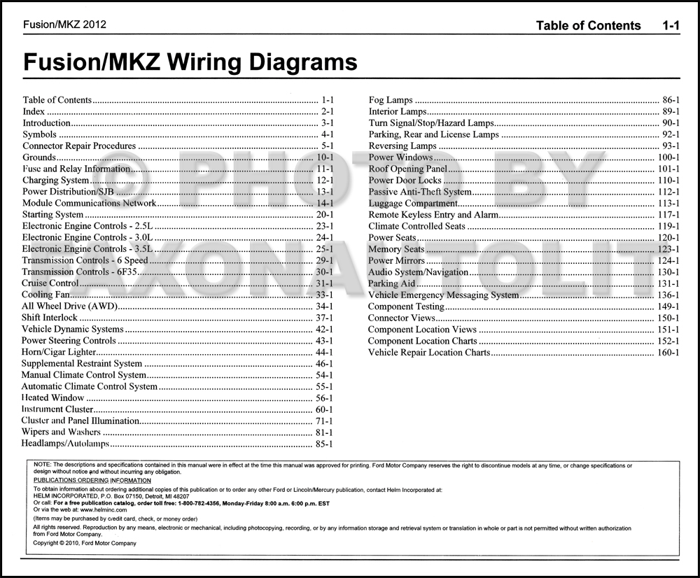 2012FordFusionLincolnMKZOWD TOC 2012 ford fusion lincoln mkz wiring diagram manual original ford fusion wiring diagram at suagrazia.org