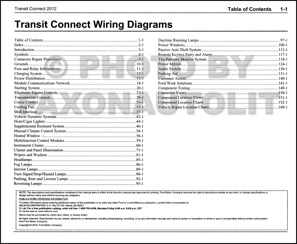 2012 ford transit connect wiring diagram manual original. Black Bedroom Furniture Sets. Home Design Ideas