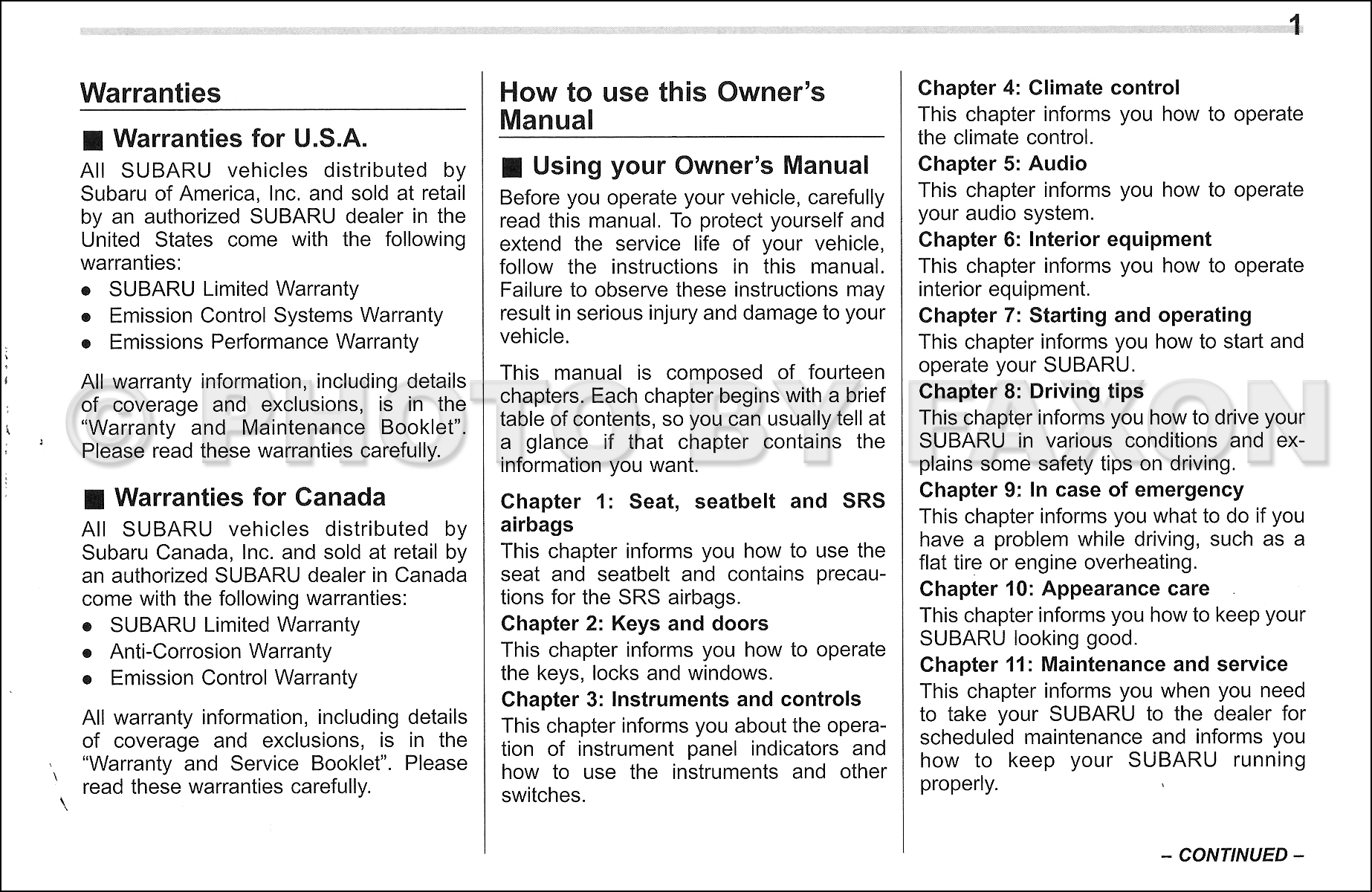 2012 subaru legacy and outback owner s manual original rh faxonautoliterature com 2014 subaru outback owners manual 2014 subaru outback owners manual