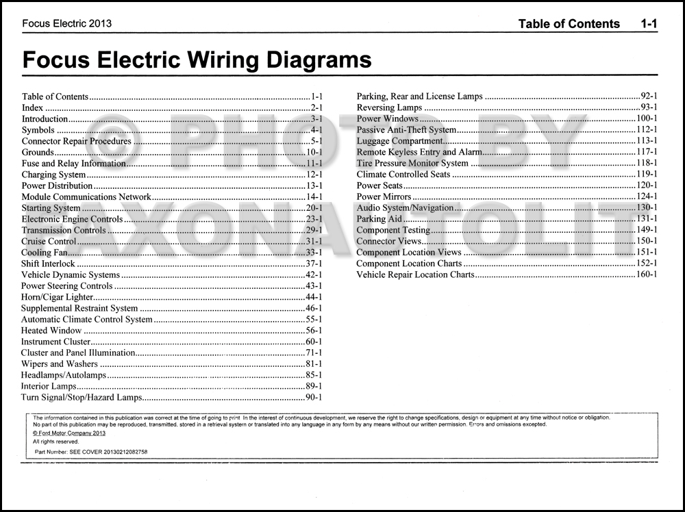 2013 ford focus wiring diagram 2013 ford focus electric wiring diagram manual original ... 2005 ford focus wiring diagram