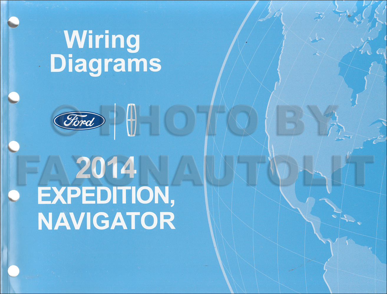 2014 Ford Expedition Lincoln Navigator Wiring Diagram Manual Original