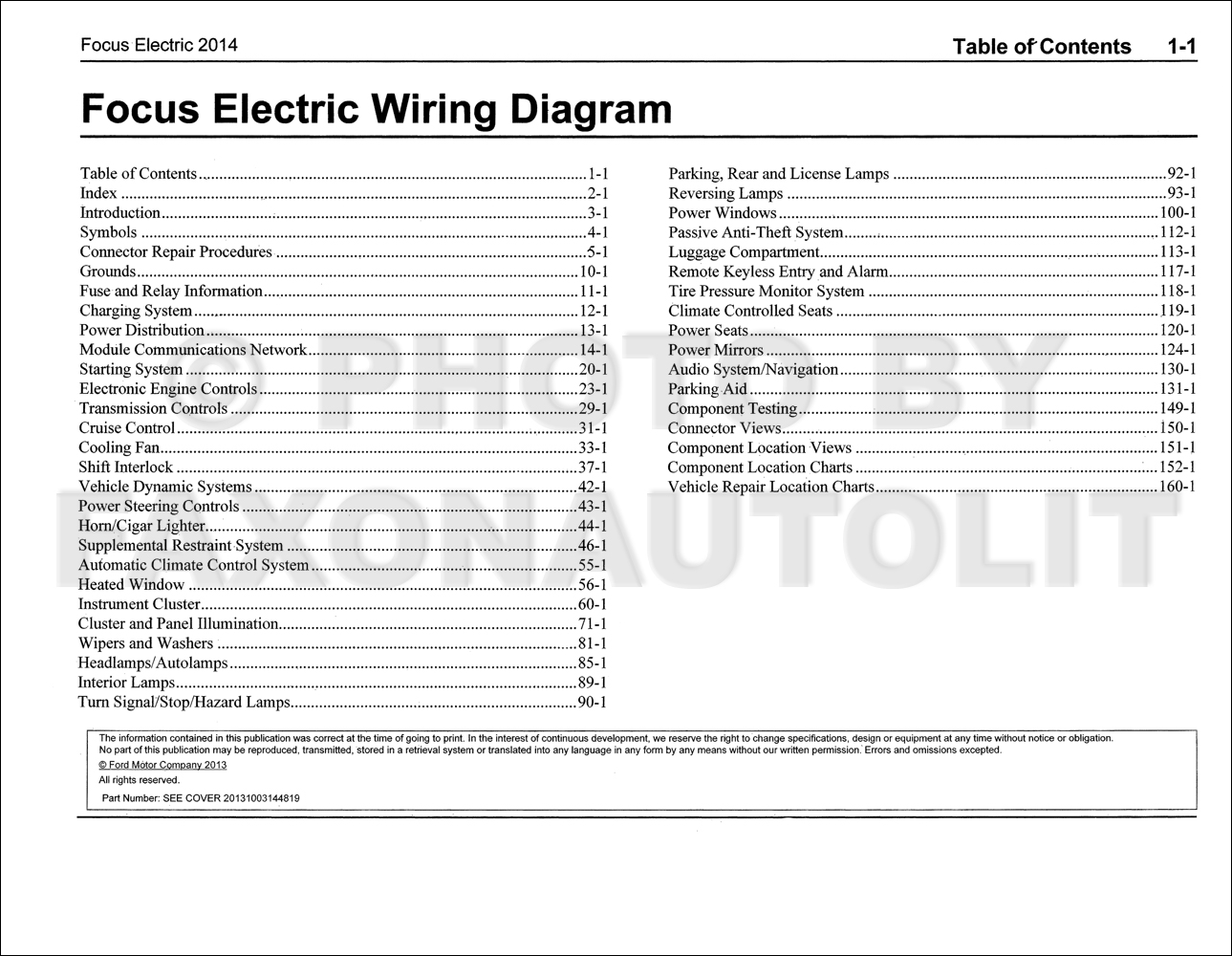 2014 ford focus electric wiring diagram manual original. Black Bedroom Furniture Sets. Home Design Ideas