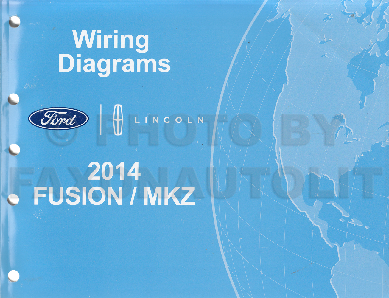 2014 Ford Fusion Energi Hybrid Lincoln Mkz Hybrid Wiring Diagram Manual Original